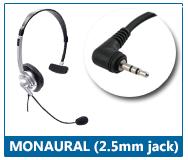 monaural 2.5mm